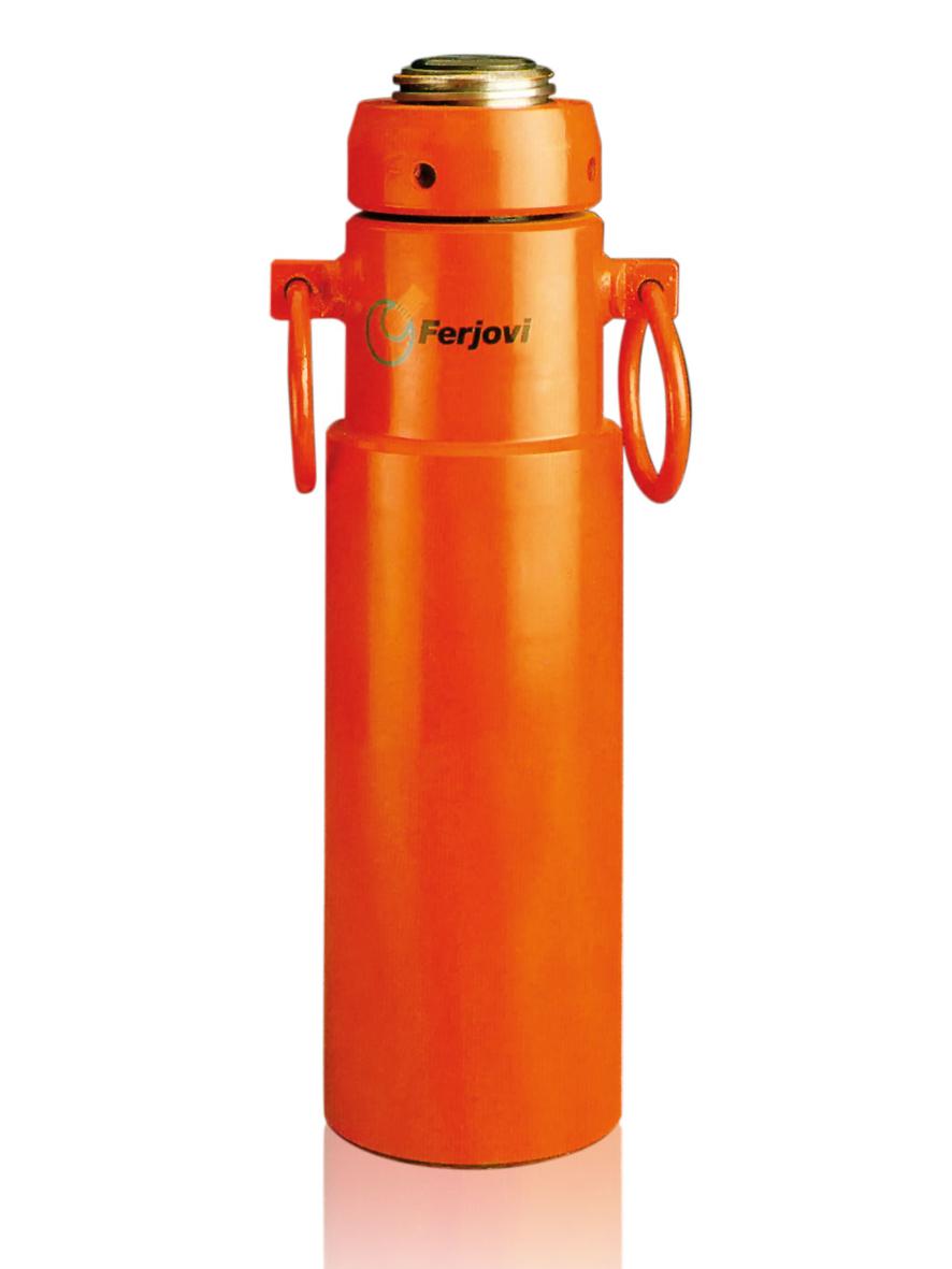 Cilindros hidráulicos de doble efecto con tuerca de seguridad
