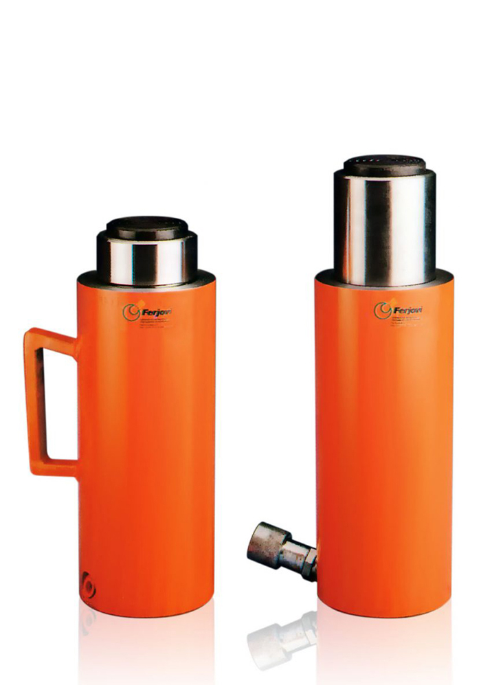 Plunger single acting hydraulic cylinder