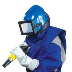 Astro blasting helmet protection