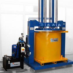 Compactadora de residuos hidráulica