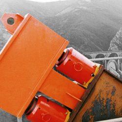 Cilindros con tuerca de seguridad para pretensado de puentes 500 Tm.