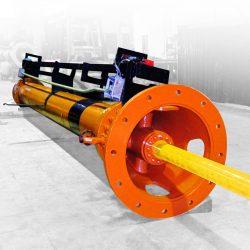 Servoactuador para accionamiento de compuerta de central hidráulica