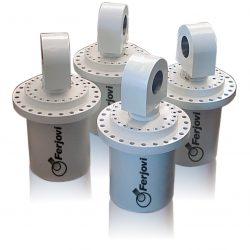 Cilindros hidráulicos estabilizadores de 350 mm. de diametro